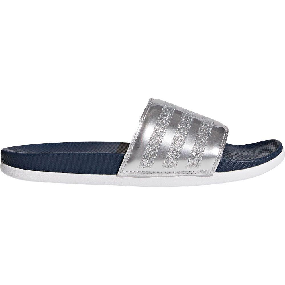 2020 rationelle Konstruktion lässige Schuhe adidas - Adilette Cloudfoam Plus Explorer Slipper Damen collegiate navy  footwear white