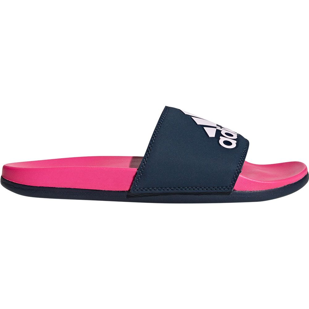 adidas - Adilette Cloudfoam Plus Logo Slipper Damen shock pink ...