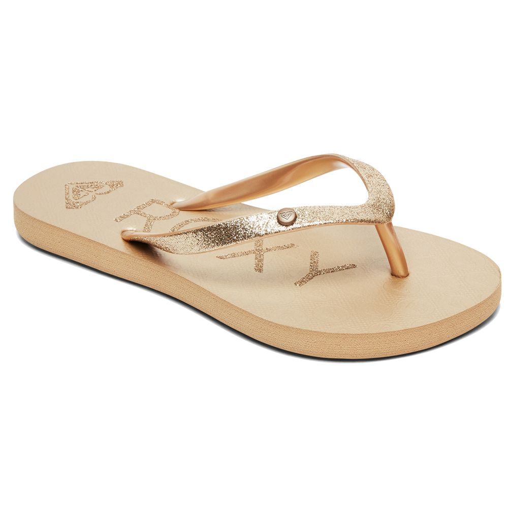 0bd31b67f Roxy - Viva Glitter Flip Flops Women gold at Sport Bittl Shop
