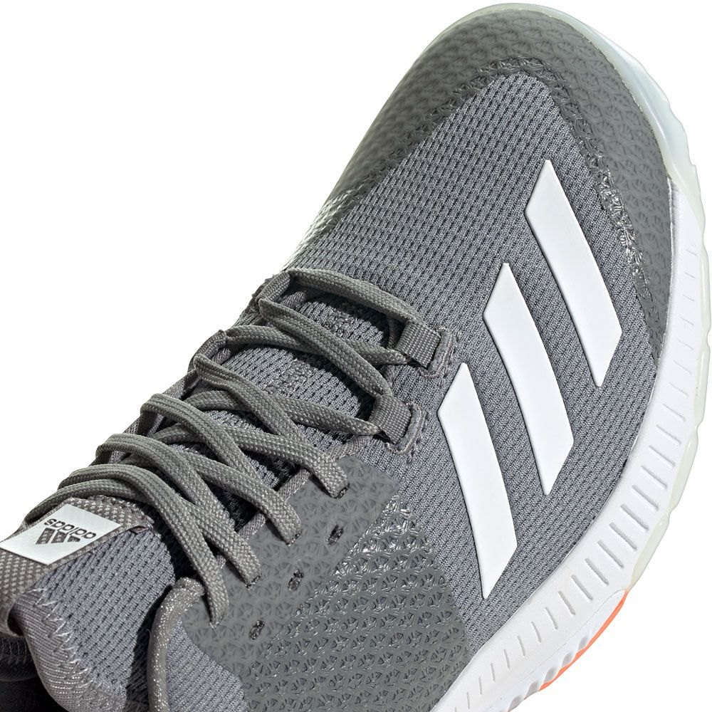 adidas - Crazyflight Bounce 3 Shoes Women grey three footwear white signal  coral