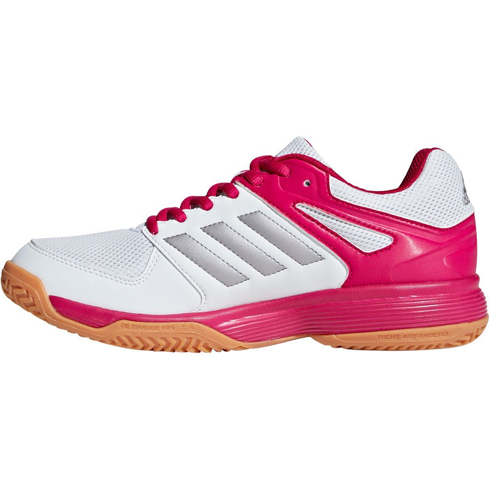 adidas Speedcourt W Indoor Shoes Women footwear white tech silver met bold pink