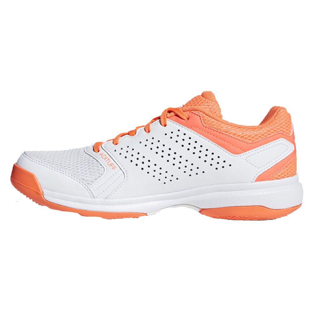 adidas Essence W Hallenschuhe Damen white orange