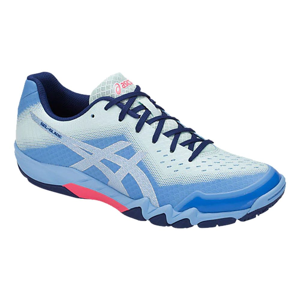 a9a51740684c1 ASICS - GEL-Blade 6 Indoor Shoes Women blue bell silver at Sport ...