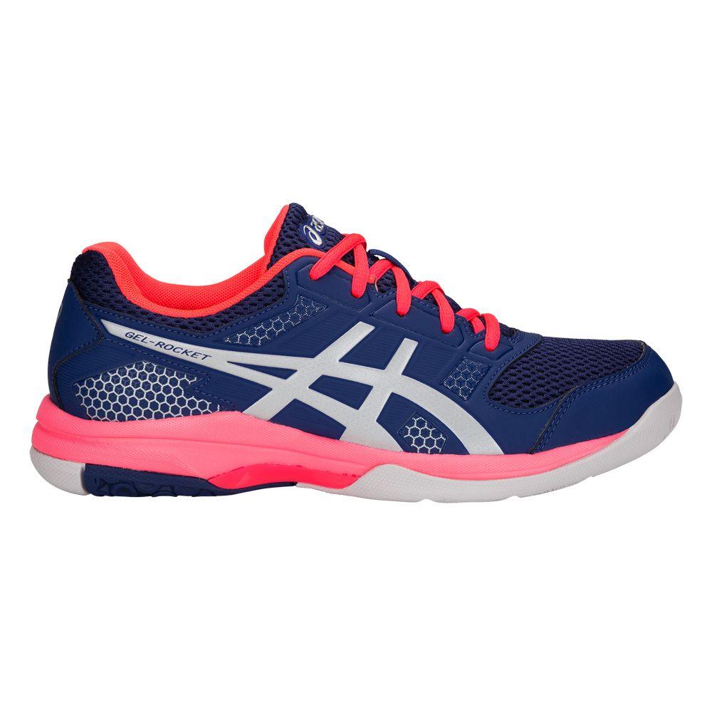 ASICS - Gel-Rocket 8 Indoor Shoes Women blue print silver at ...