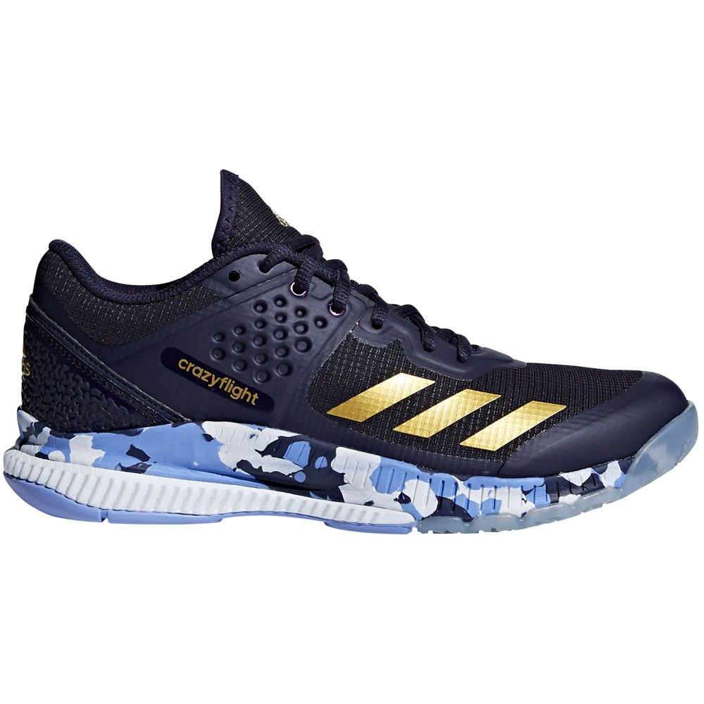 wholesale dealer e1748 5073f adidas Crazyflight Bounce indoor shoes women noble ink gold metallic chalk  purple