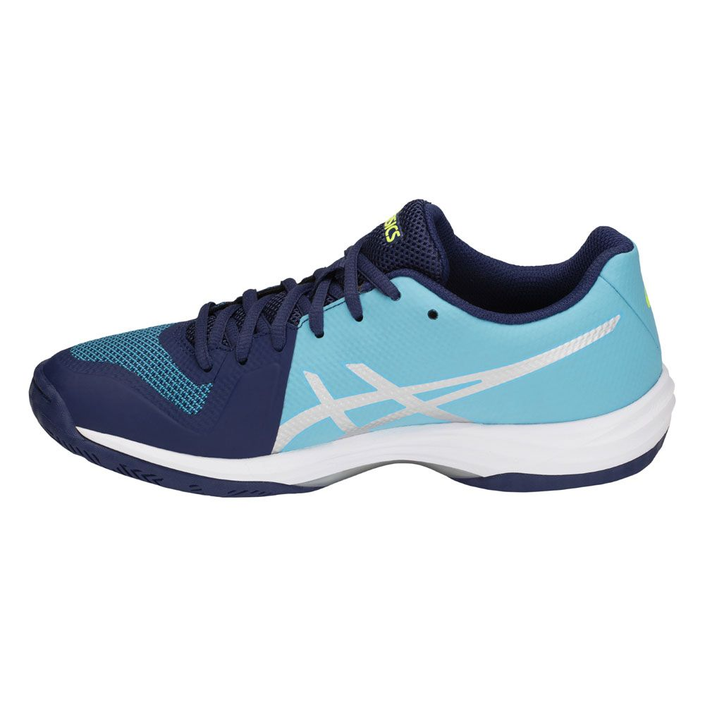 ASICS - Gel-Tactic Indoor Shoes Women indigo blue silver at ...