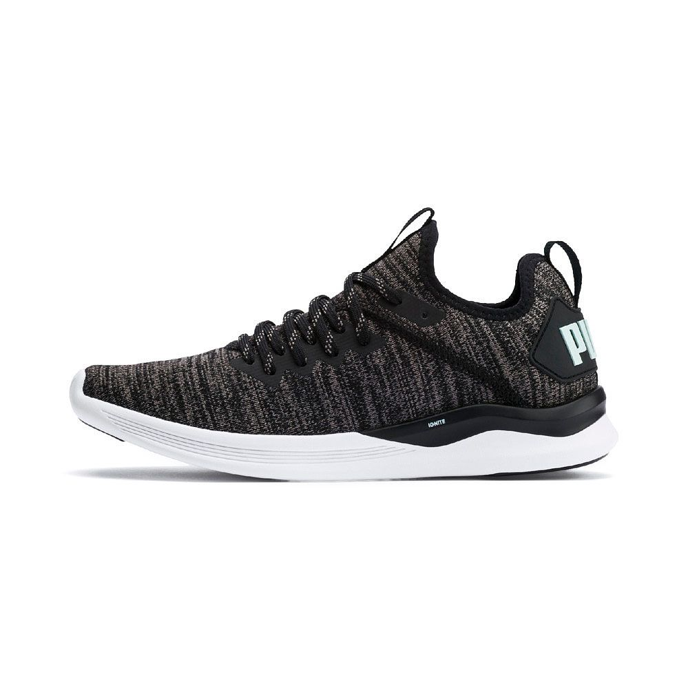 Puma Ignite Flash evoKNIT Fitnessschuhe Damen puma black charcoal gray fair aqua