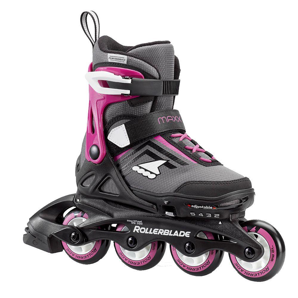Maxx G Skates Kinder grau pink