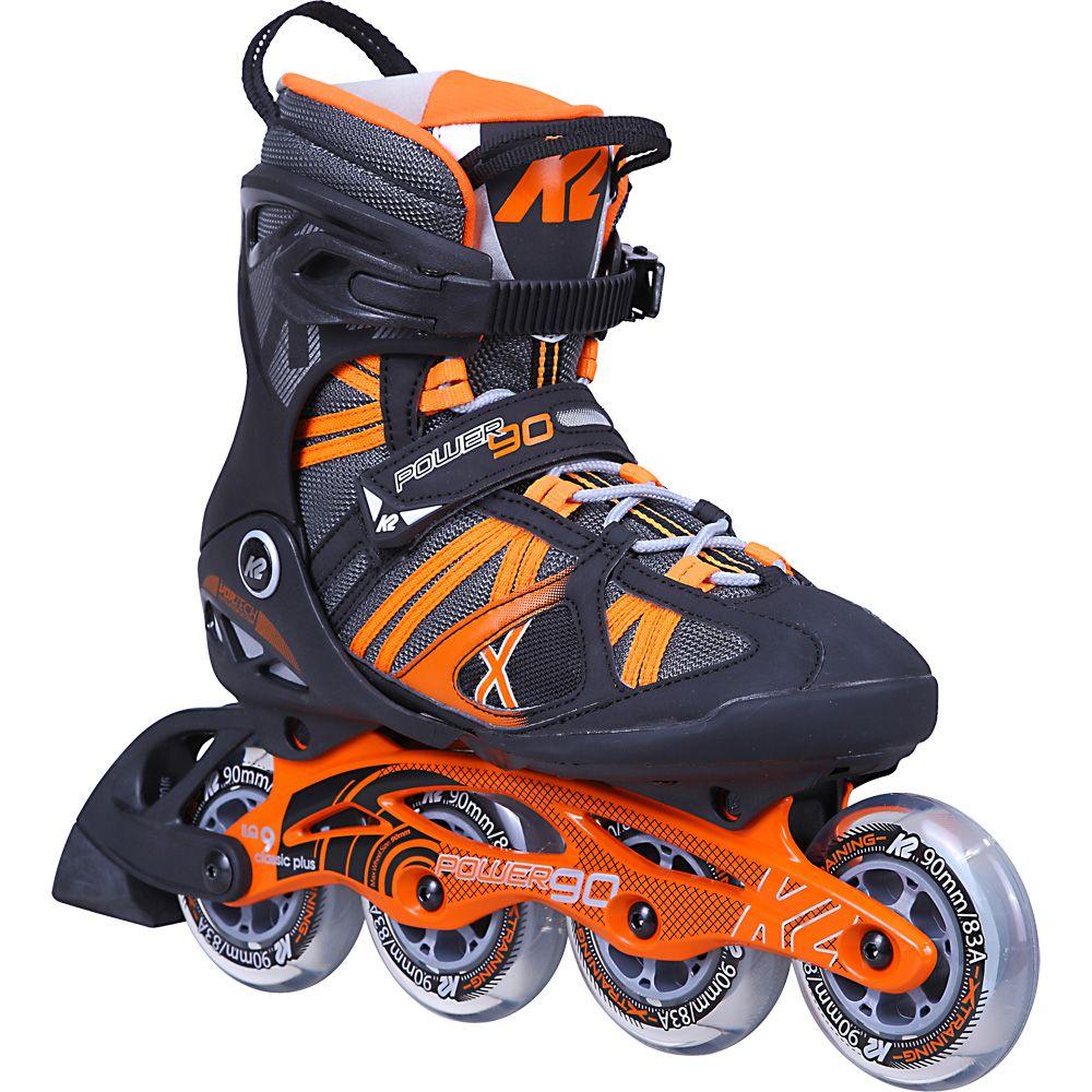 a41e84a537d352 K2 - Power 90 Inline Skate Men black grey orange at Sport Bittl Shop