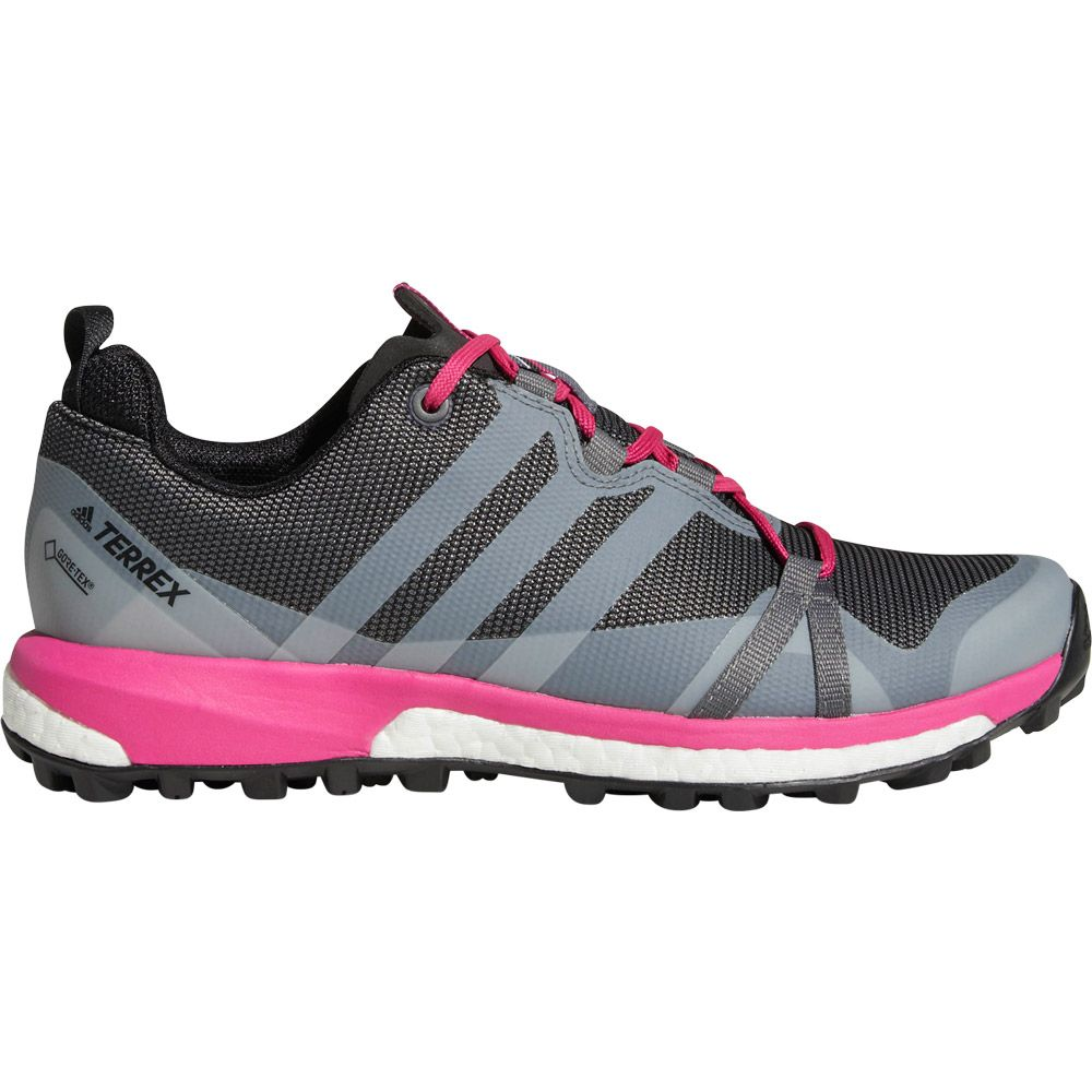 adidas Terrex Agravic GTX Damen grey four real magenta