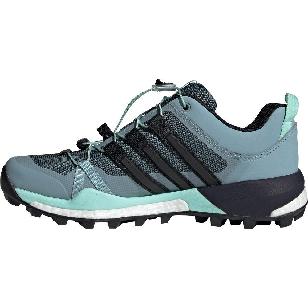 adidas Terrex Skychaser GTX Trail Running Shoes Women ash grey core black clear mint