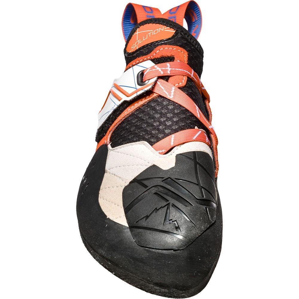 La Sportiva Solution Climbing Shoe Women white lily orange