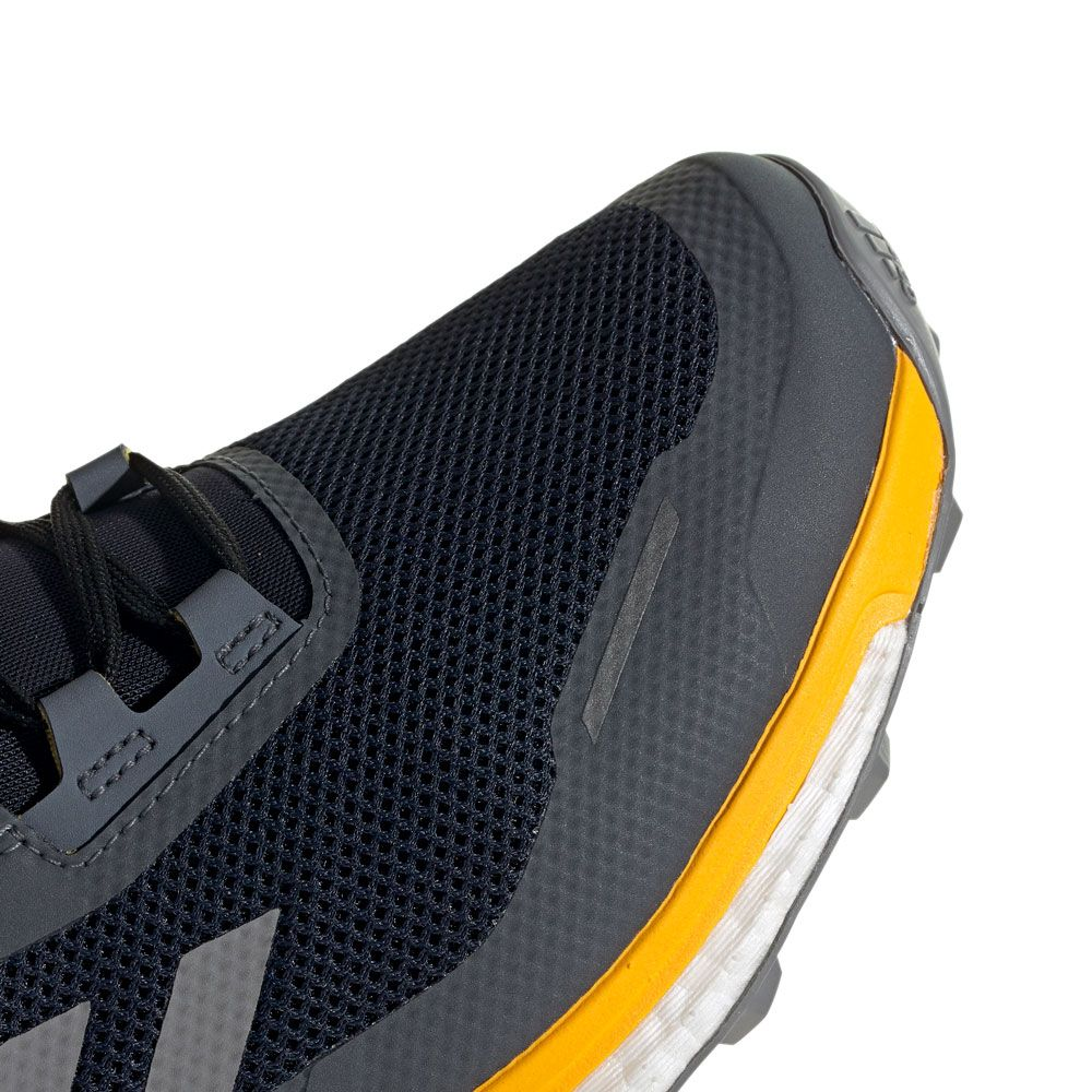 adidas Terrex Agravic Flow GTX Trailrunningschuhe Core Black Grey Six Solar Orange | 7,5 (UK)