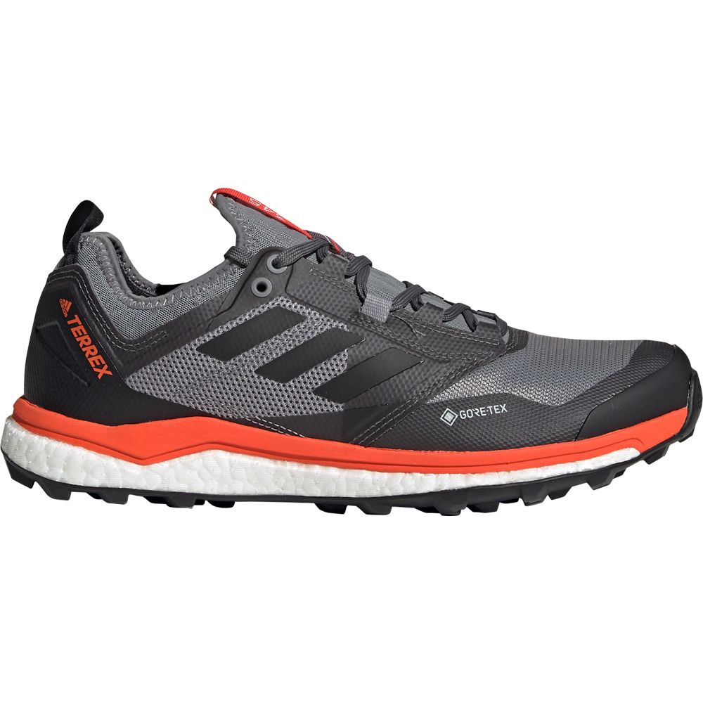 adidas Terrex Agravic XT GTX Trail Running Shoes Men grey three core black active orange