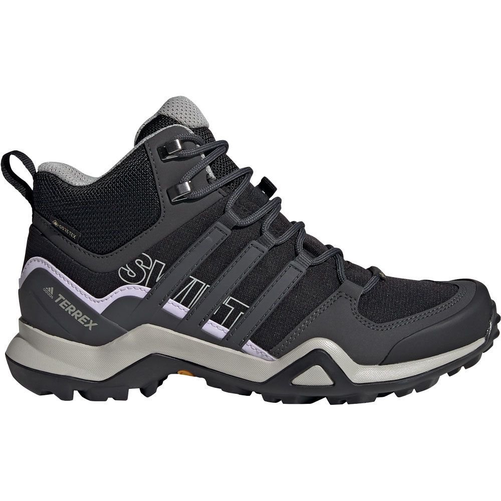 adidas - Terrex Swift R2 Mid GTX Hiking Shoes Women core black dgh solid  grey purple tint