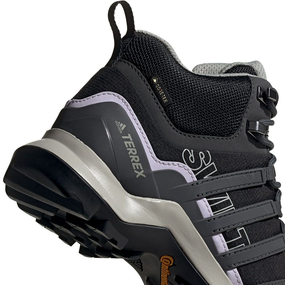 adidas - Terrex Swift R2 Mid GTX Hiking Shoes Women core black dgh solid  grey purple tint