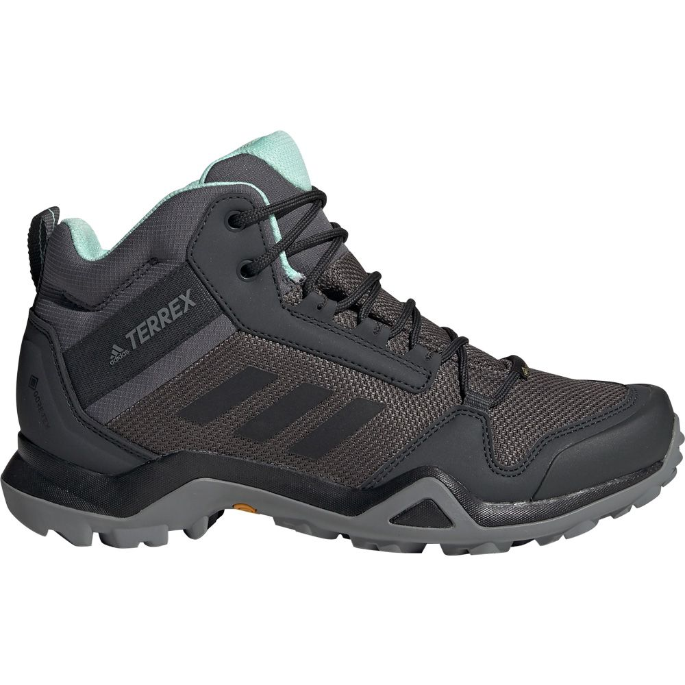 adidas - Terrex AX3 Mid GTX Hiking Shoes Women grey five core black clear  mint