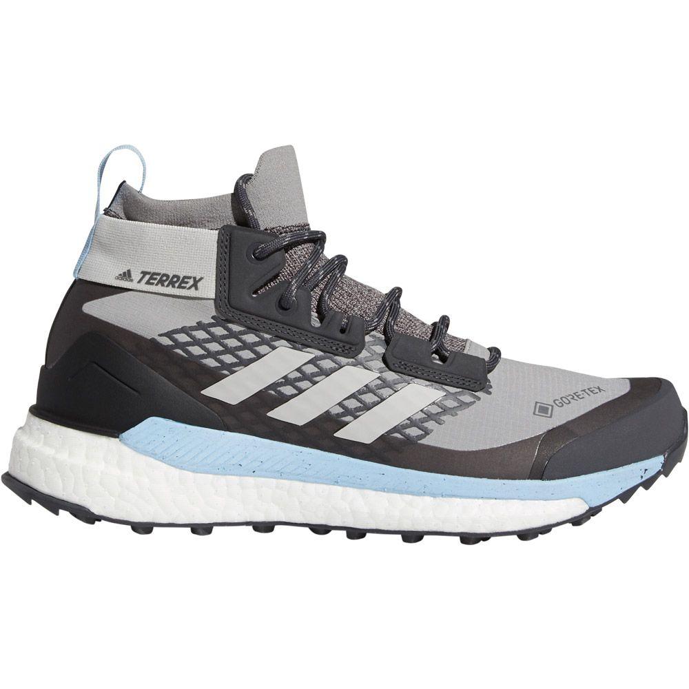 adidas Terrex Free Hiker GTX Wanderschuhe Damen ch solid grey grey two glow blue