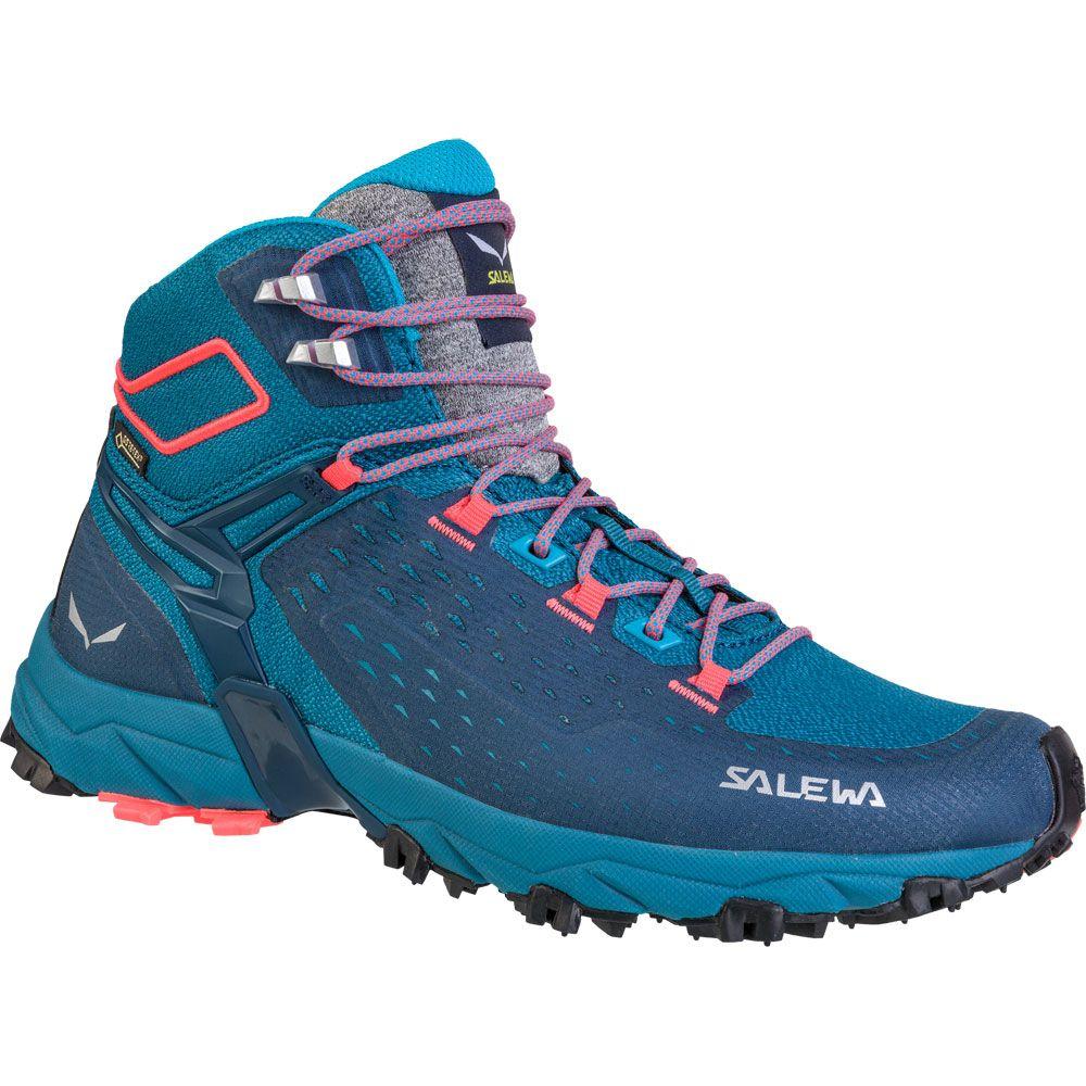 Alpenrose Ultra Mid GTX Damen blue sapphire fluo coral