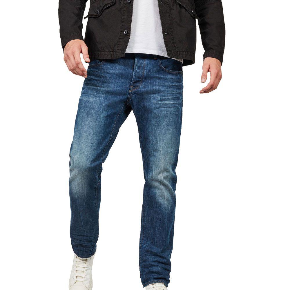771daef484f G-Star - 3301 Straight Fit Jeans Men medium aged at Sport Bittl Shop