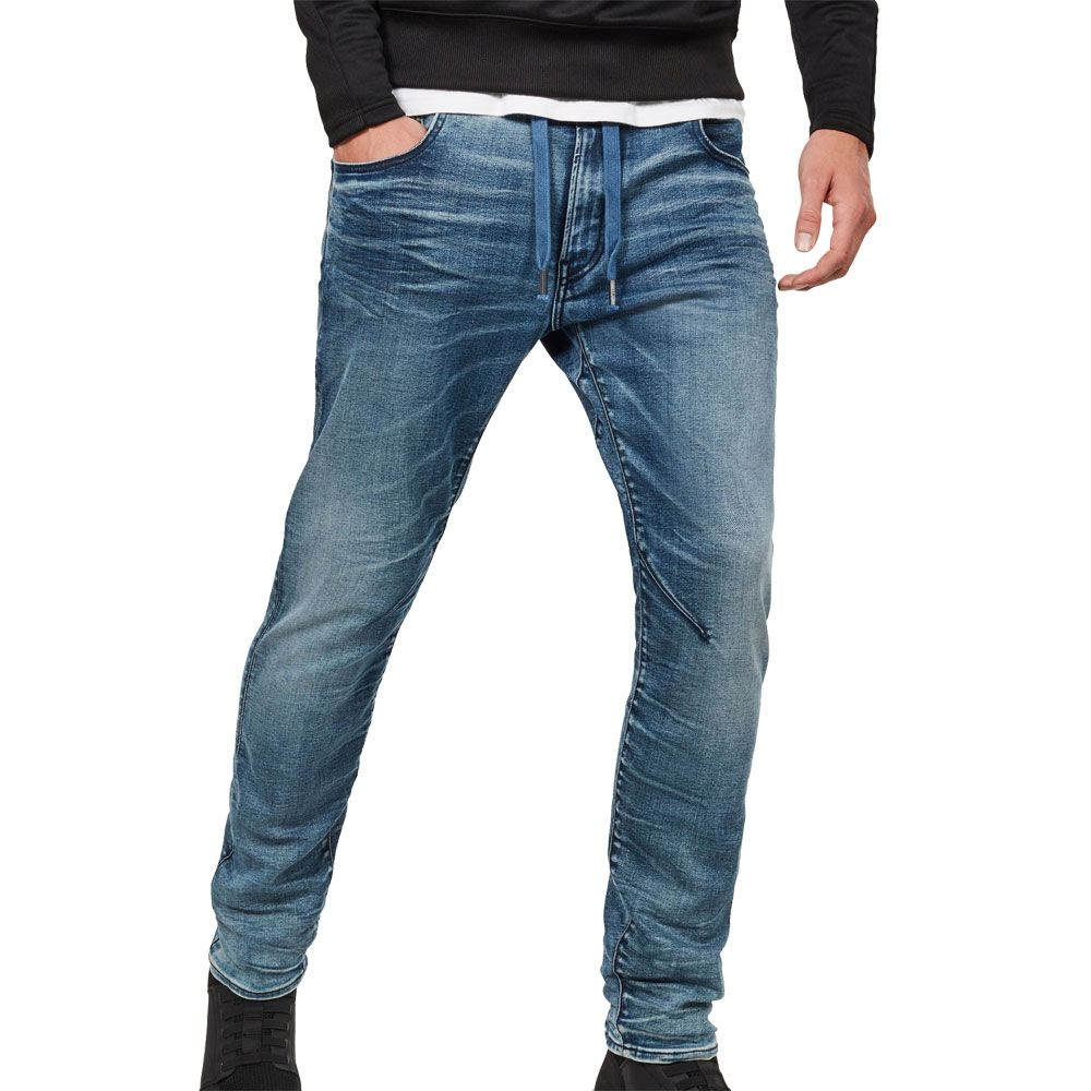 G-Star RAW Jeans 3301 Straight Fit Mens Designer Denim Jeans Dark Aged