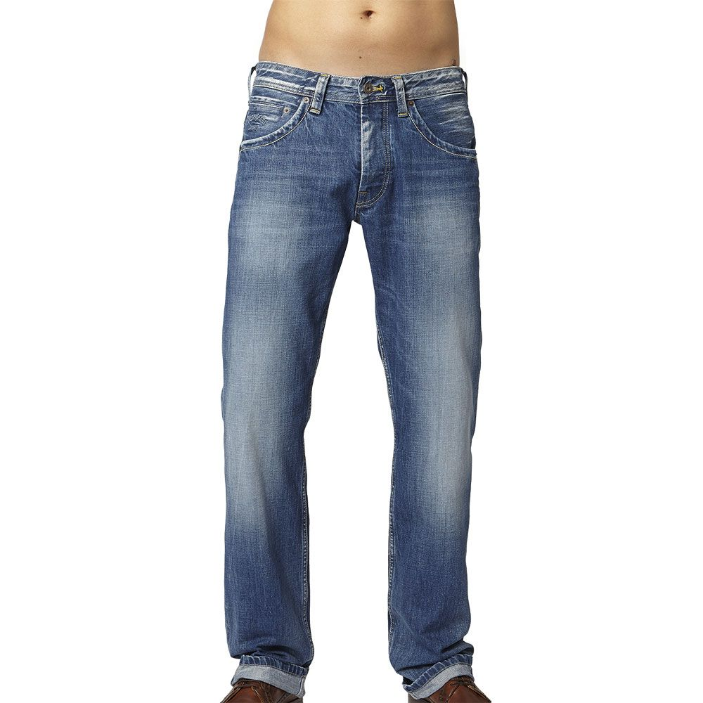 063e2a2db29 Pepe Jeans - Jeanius Relaxed Fit Jeans Men blue at Sport Bittl Shop