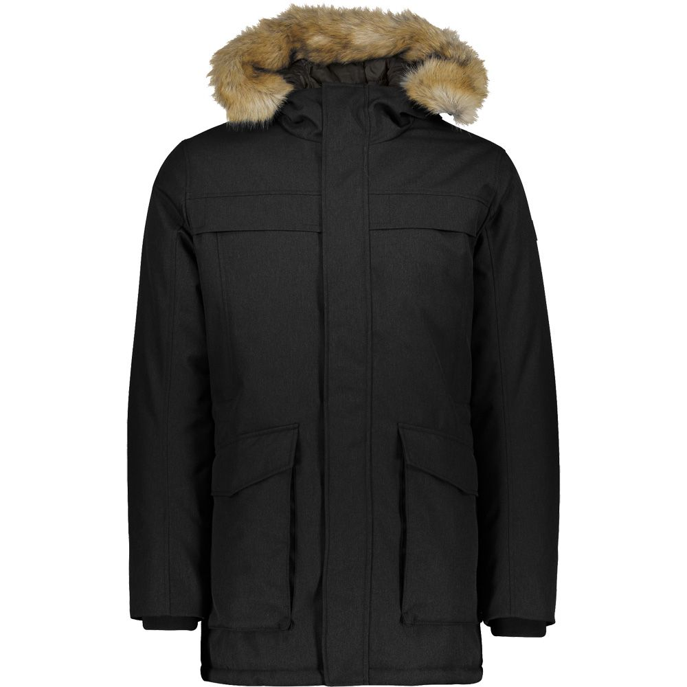 CMP - Fix Hood Parka Men nero mel at Sport Bittl Shop 904811b833