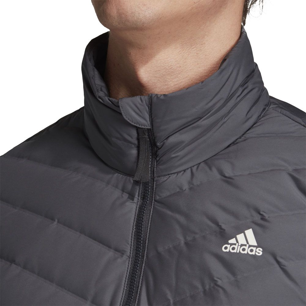adidas Varililte 3 Stripes Soft Down Jacket Men carbon