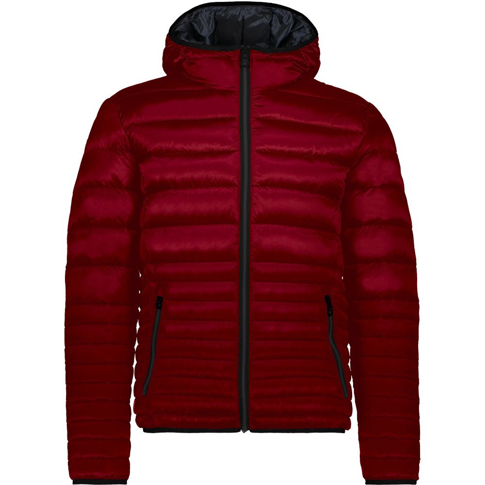 CMP down Jacket Quilted Hooded Jacket Red Water-Resistant Teflon