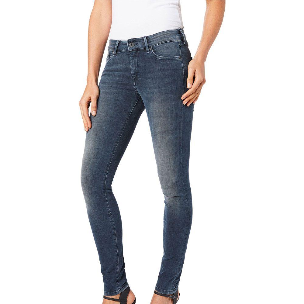 40b258aabdd75f Pepe Jeans - Pixie Skinny Fit Jeans Damen grau blau kaufen im Sport ...