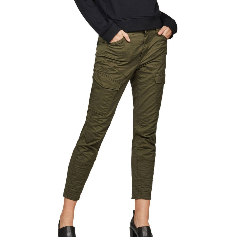 G Star Rovic Mid Waist Skinny Fit Cargohose Damen forest night