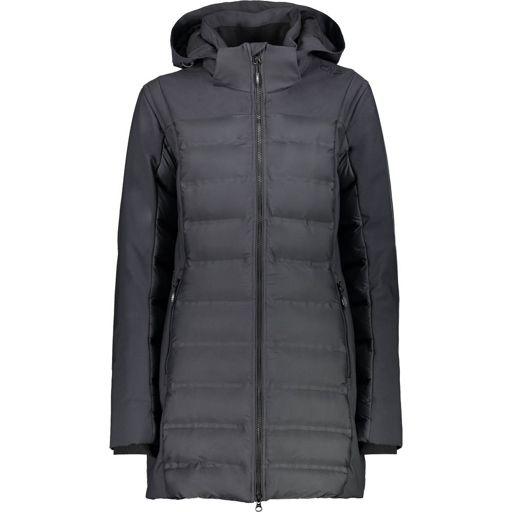 CMP - Fix Hood Parka Women antracite nero at Sport Bittl Shop 17c23baf3a