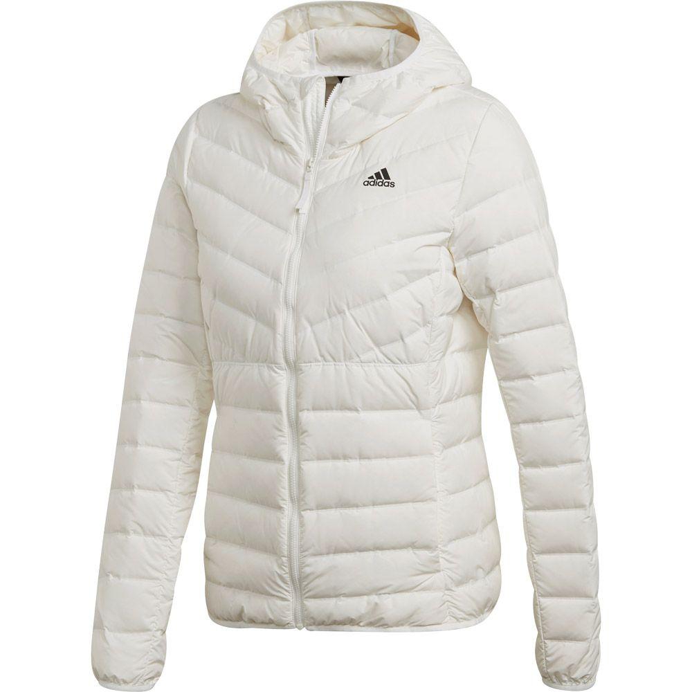 Adidas Hooded Streifen Varilite Daunenjacke Damen White Core Soft 3 wPknOX08