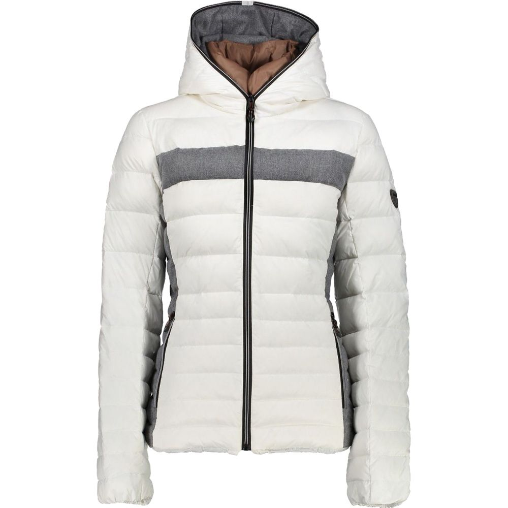 CMP - Fix Hood Down Jacket Women bianco at Sport Bittl Shop 48fd9d0547