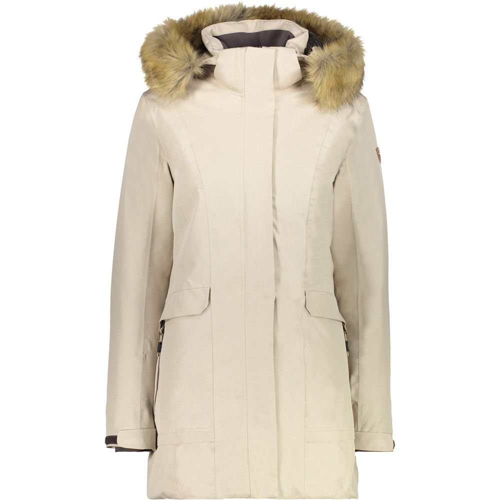 CMP - Fix Hood Parka Women arabica sand at Sport Bittl Shop e3ad53fb99