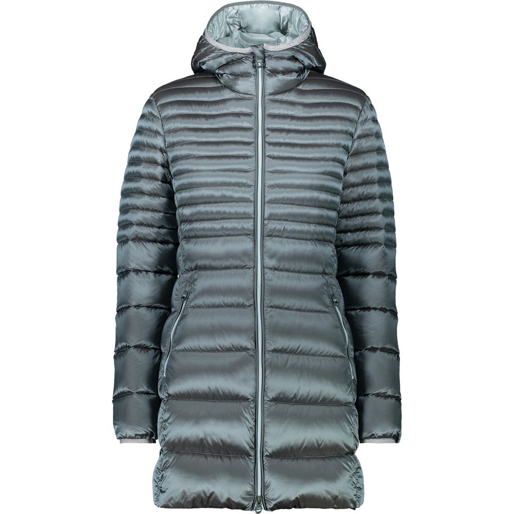 CMP - Fix Hood Down parka Women hydro opale at Sport Bittl Shop 66c2056a0a