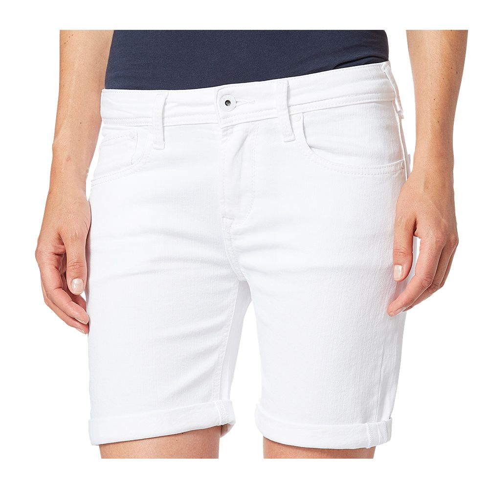 prevalent on wholesale new images of Pepe Jeans - Poppy Jeans Shorts Women white