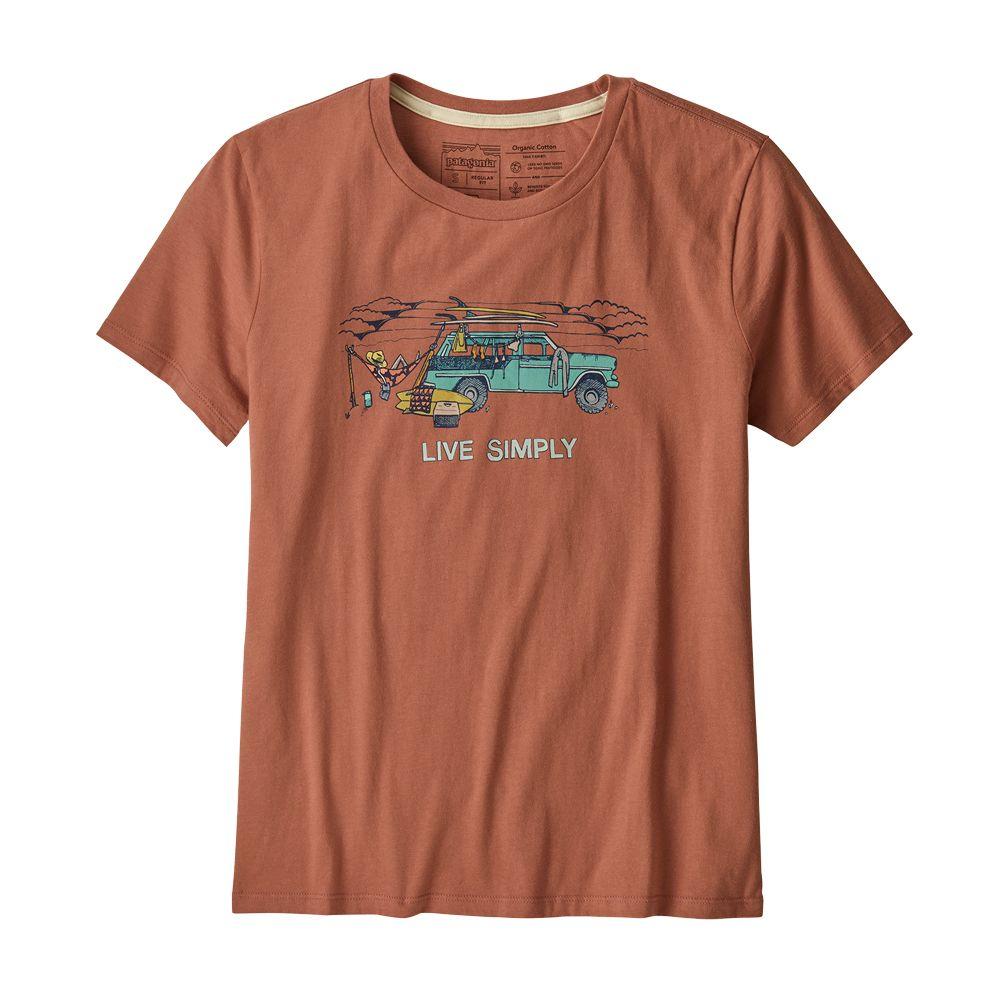 Patagonia Live Simply Lounger Organic Crew T Shirt Damen century pink surf