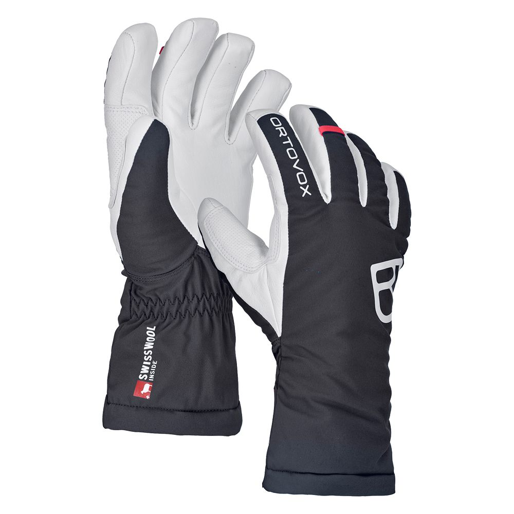 ORTOVOX Swisswool Freeride Handschuhe Damen black raven