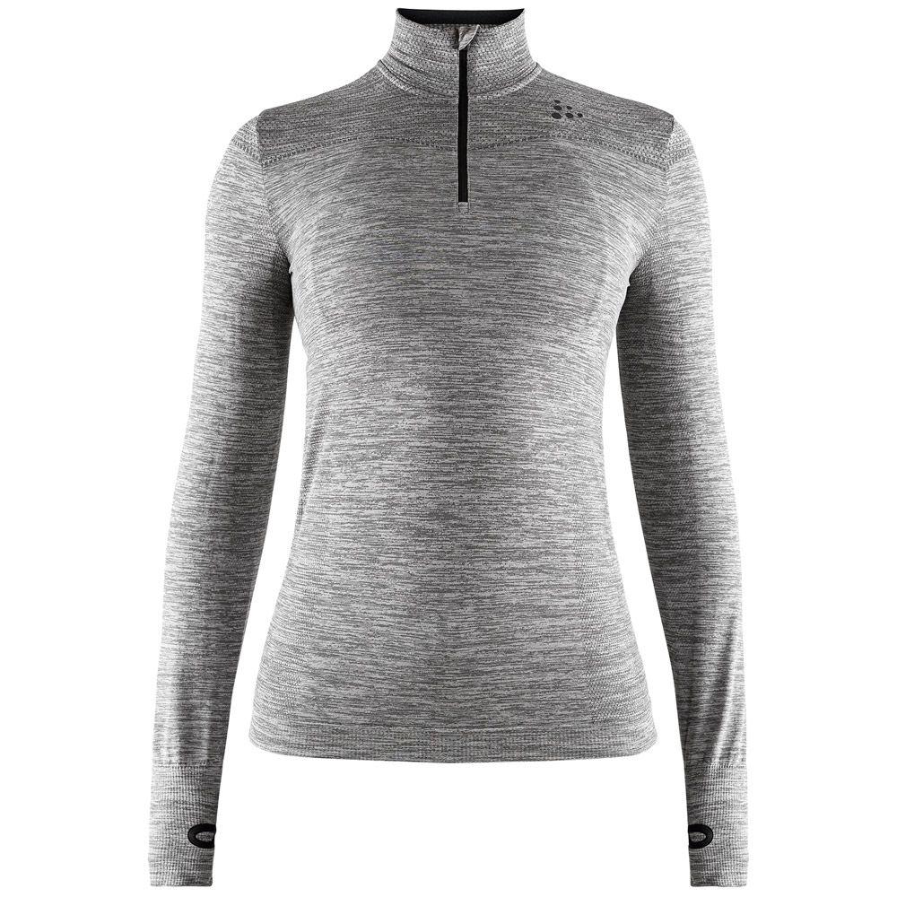 Fuseknit Comfort Zip Unterhemd Damen dk grey melange