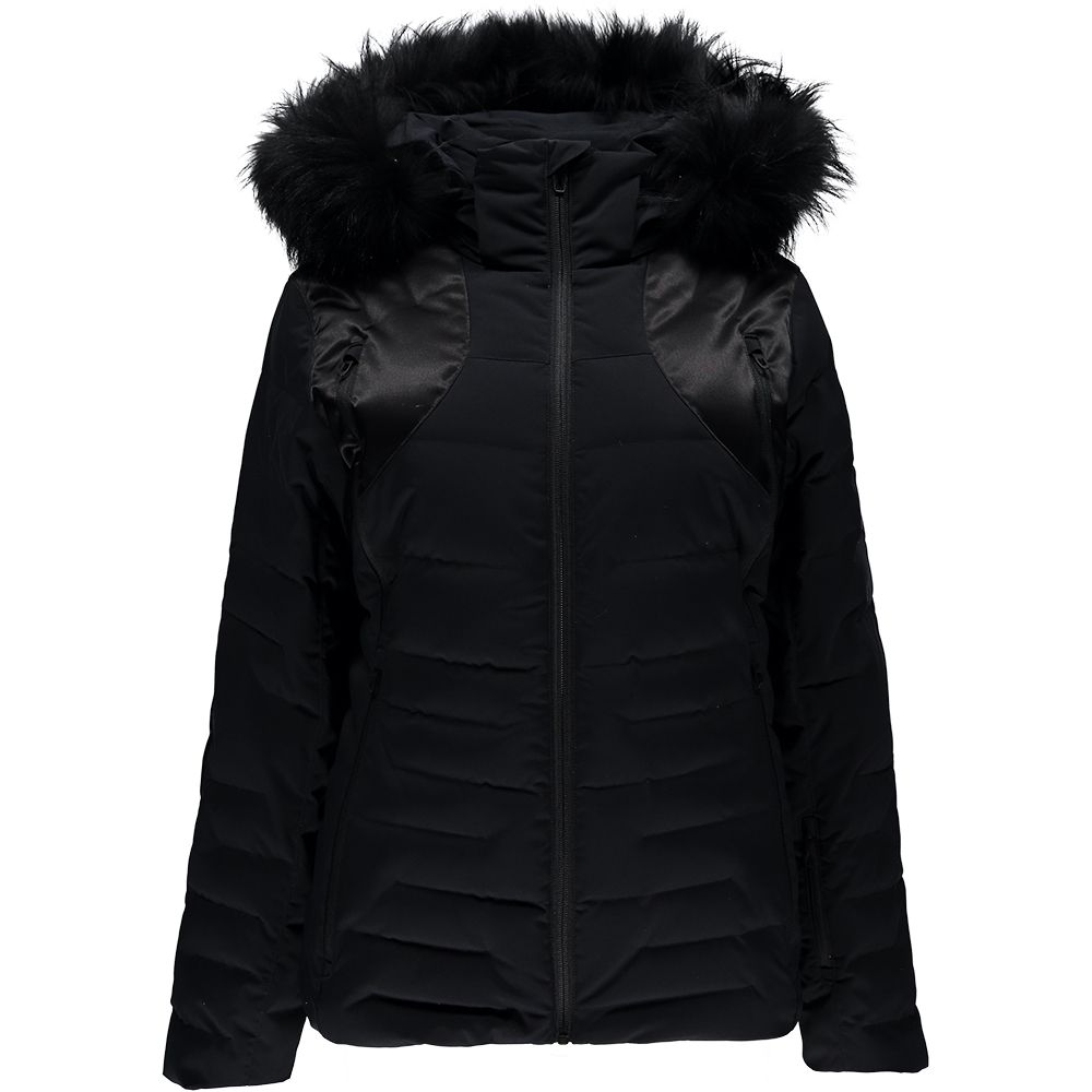 7f0e2f072d Spyder - Falline Faux Fur Down Jacket Women black at Sport Bittl Shop