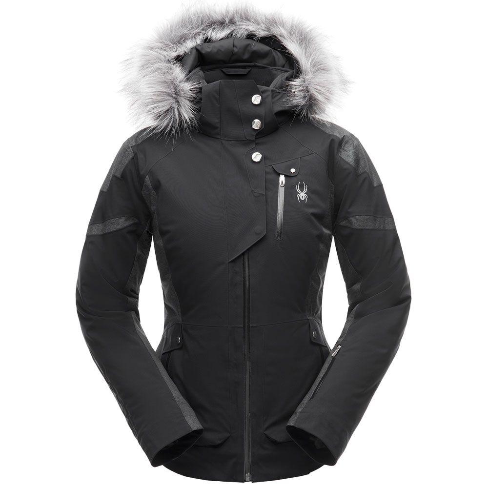 die beste Einstellung 15c6b dcafb Spyder - Meribel Faux Fur Skijacke Damen schwarz