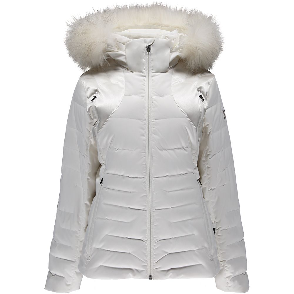 2789f457fa Spyder - Falline Faux Fur Down Jacket Women marshmallow at Sport ...