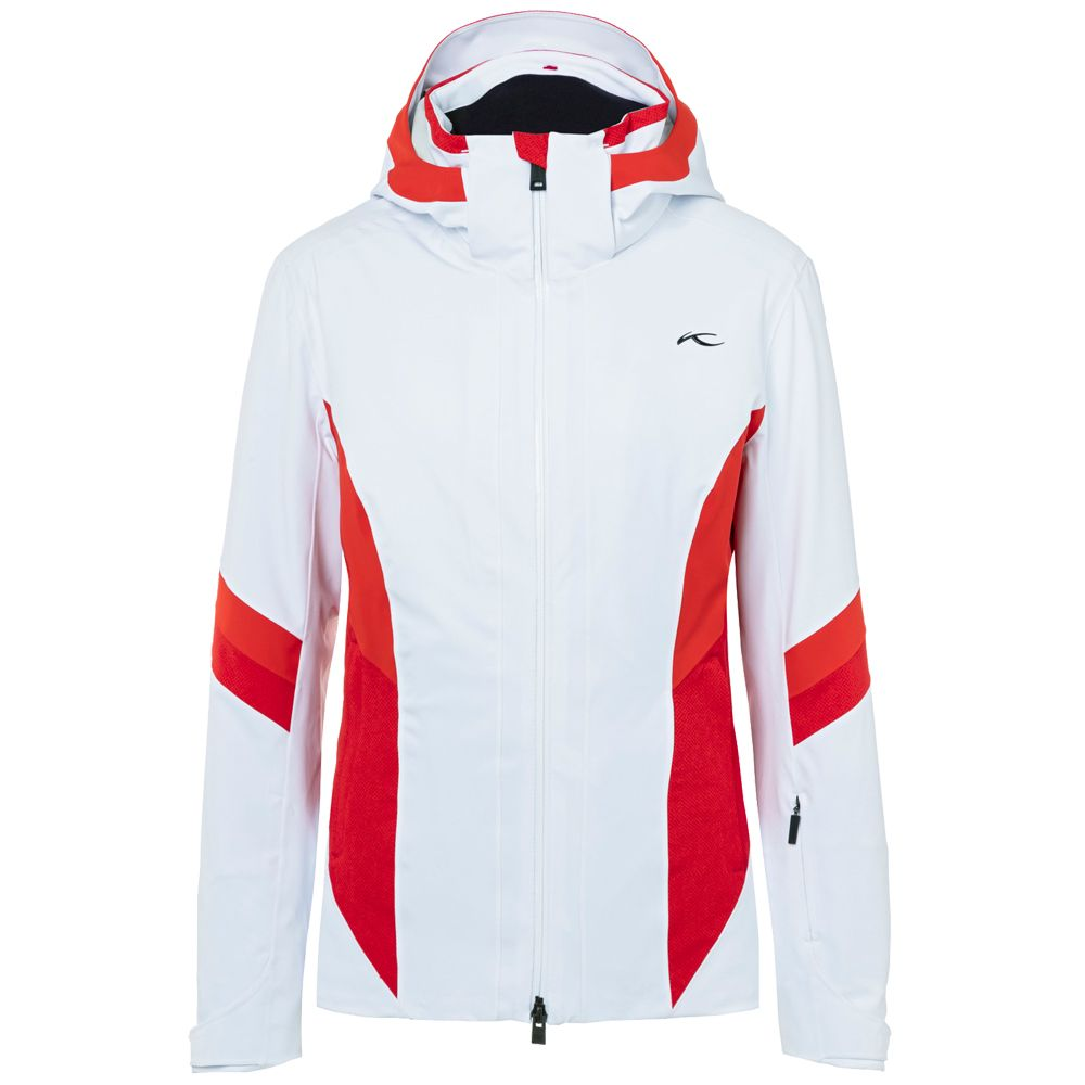73ec64ff67 Kjus laina ski jacket women white fiery red at sport bittl shop jpg  1000x1000 Bavarian ski