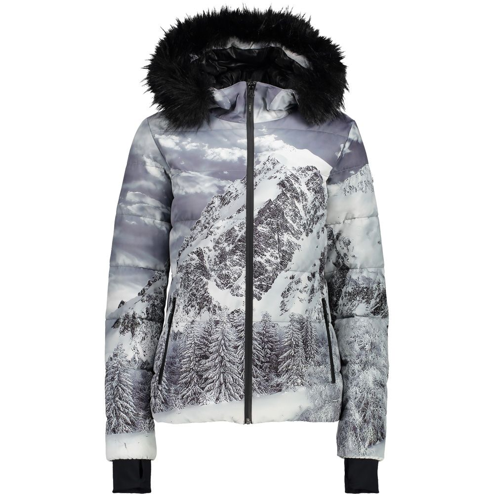 CMP - Fix Hood Eco Fur Jacket Women nero at Sport Bittl Shop 0a14c881d1