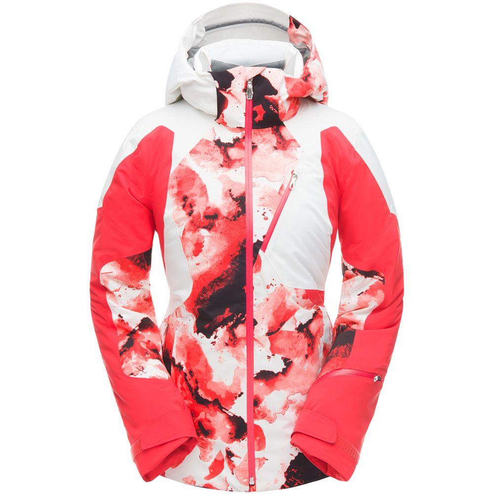 Großhändler 300cf 9449a Spyder - Leader Skijacke Damen rot weiß