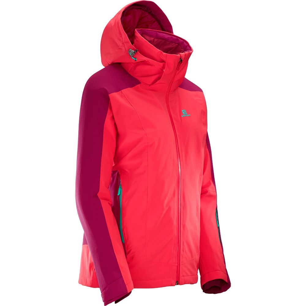 Brilliant Women Cerise Jacket Salomon Hibiscus clJTFK1