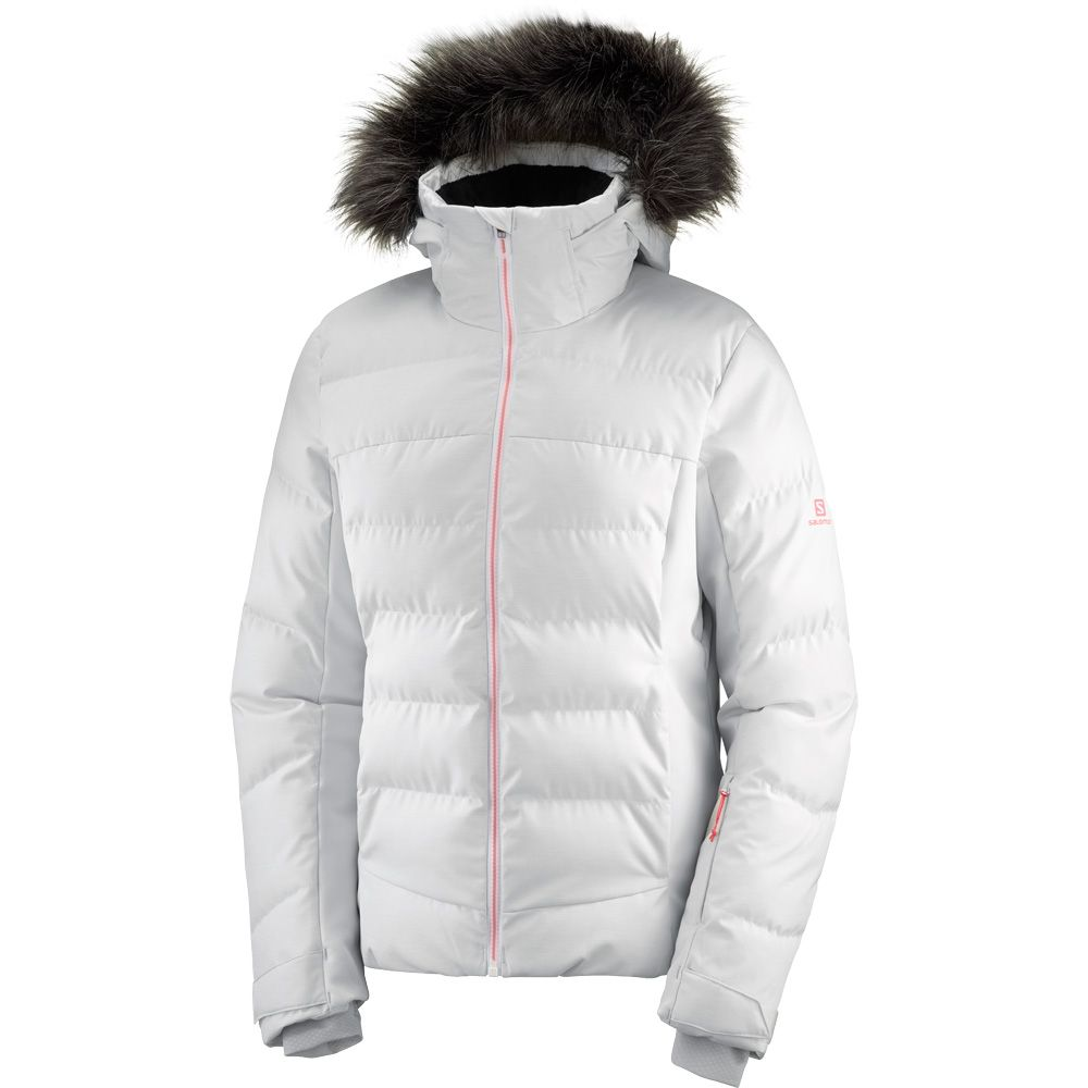 Salomon Stormcozy JKT W Snow Jacket Women white lunar rock