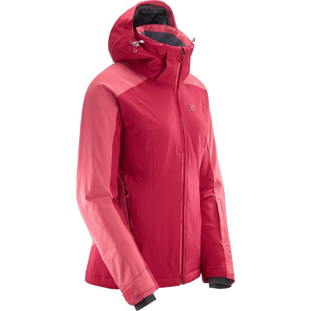 Salomon Brilliant Skijacke Damen rio red garnet rose