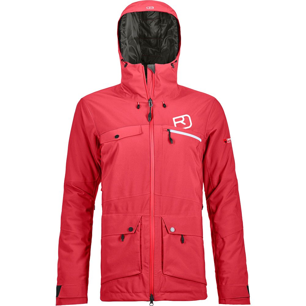 2L Swisswool Andermatt Jacket Women hot coral